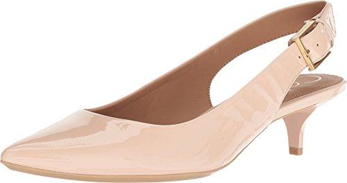 Calvin Klein Women's Luka Slingback Pump Sheer Satin Patent 7.5 M US M