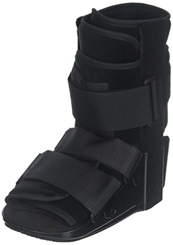 OTC Short Leg Cast Low Top Walker Boot, Black, Small/Short