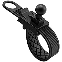 ARKON Bike or Motorcycle Handlebar or Roll Bar Strap Mount for Garmin nuvi 40 50 200 2013 24x5 25x5 GPS - Mount - Retail Packaging - Black