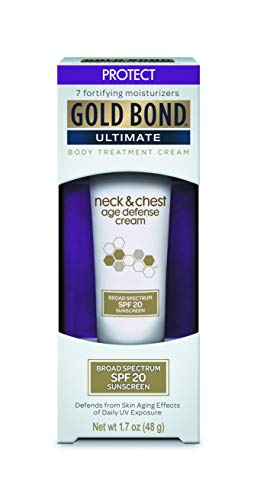 Gold Bond Ultimate Neck & Chest SPF 20 Age Defense, 1.7 Ounce (Pack of 3) (Gold Bond Neck And Chest Cream Ingredients)