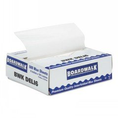 BWKDELI6 - Boardwalk Interfold-sheet Deli Paper, 6amp;quot; X 10 3/4amp;quot;, White, 500 Sheets/box