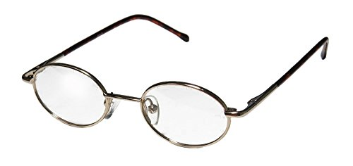 NE 2104 Unisex/Boys/Girls/Kids Oval Full-rim Spring Hinges Eyeglasses/Eyeglass Frame (39-18-125, Gold / - Eyeglasses Oval