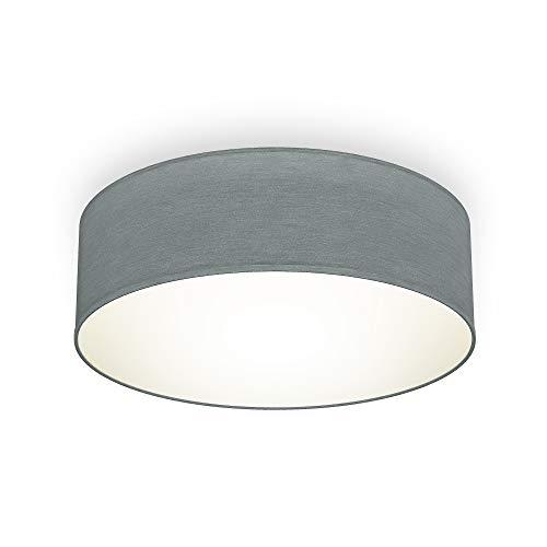 B.K.Licht I Plafondlamp I stoffen plafoniere I slaapkamer plafondlampen I lampen grijs I stof plafonniere I IP20 I Ø30cm…