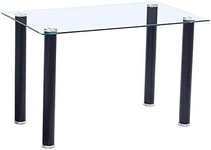 Mobelcenter - Mesa Comedor Cristal Transparente - 140x75cm (0856 ...