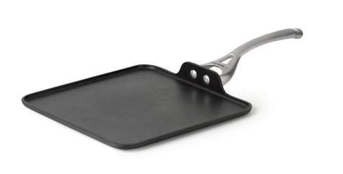 Aluminum Square Griddle (Calphalon Contemporary Hard-Anodized Aluminum Nonstick Cookware, Square Griddle Pan, 11-inch, Black)