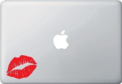 Hot lips graphic vinyl macbook laptop decal sticker red