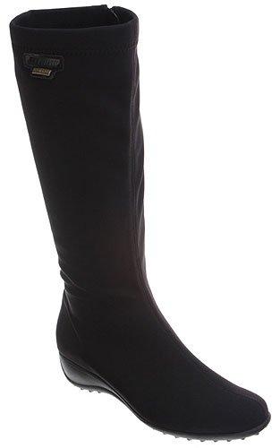 Mephisto Women's Linda Boot,Black Stretch,8.5 M US