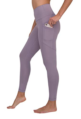 90 Degree By Reflex High Waist Interlink Yoga Pants - Frosted Lilac - XS (Frosted Center)