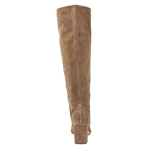 Via Spiga Womens Mellie Tall Slouch Boot Dark Taupe Suede