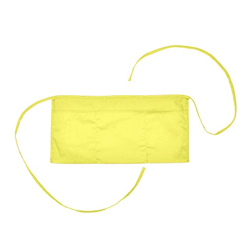 Waist Aprons Commercial Restaurant Home Bib Spun Poly Cotton Kitchen (3 Pockets) (1, Minion Yellow) (Apron Promotional)
