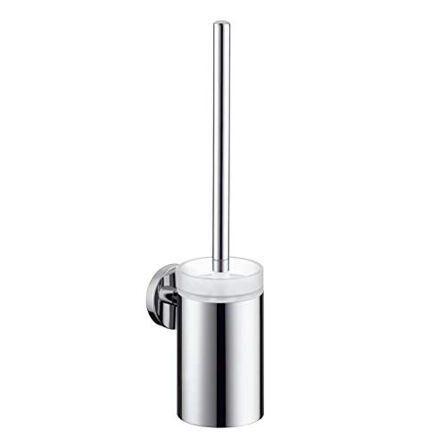 Hansgrohe 40522820 S and E Toilet Brush with Holder, Brushed Nickel (Hansgrohe Nickel Holder)