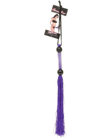 Gift Set Of Rubber Whip 14 inch - Purple And one package of Trojan Fire and I... by Sportsheets International Inc