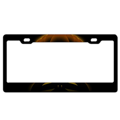 Halloween Gif Aluminum Polish Mirror License Plate Frame,Size 6-5/16