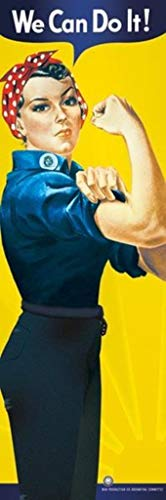 (Rosie The Riveter We Can Do It! Poster 12x36 inch)