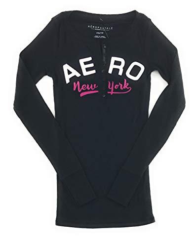 AEROPOSTALE Womens Long Sleeve Henley Shirt