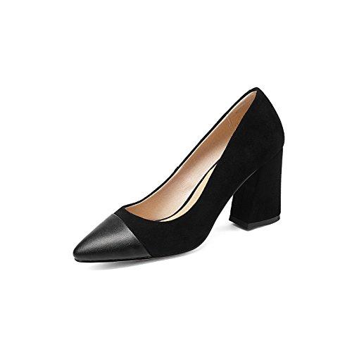 La elegante gama alta tamaño ultra pequeño, la luz de la punta de la boquilla zapatos de mujer black