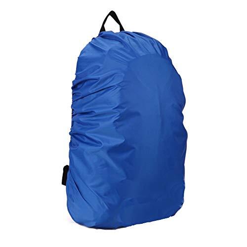 (AYAMAYA Elastic Adjustable Water Rain Proof Backpack Rucksack Cover, Blue)