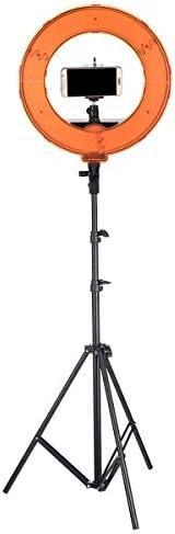 リングライト 電気スタンド ライブ放送用スタンドディフューザー三脚と12インチの調光対応LEDビデオライトリング 調光可能 撮影ライブビデオ (色 : C, Size : 12inch)