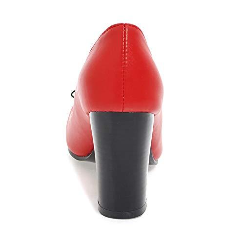 Coolcept Mode Femmes Escarpins Fête Chaussures Talon Haut Rouge qzPq6O8H