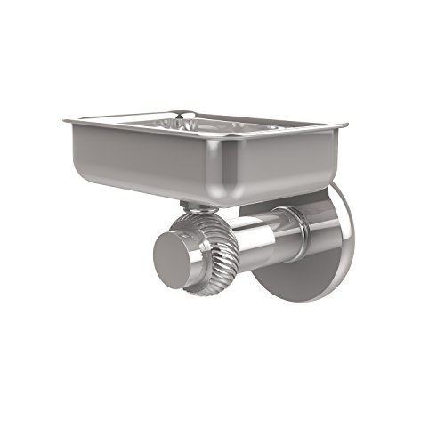 Allied Brass 932T-PC Mercury Collection Wall Mounted Soap Dish with Twisted Accents Polished ()