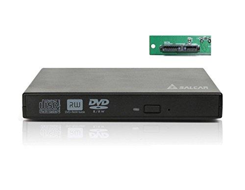 Laufwerksgehäuse extern SlimLine SATA USB2.0 (Externer Super Drive Caddy Box) Plug & Play für 12,7mm CD/DVD Laufwerk Brenner (Schwarz)