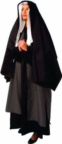 Alexanders Costumes Mary Mother Of Jesus, Black, One Size -