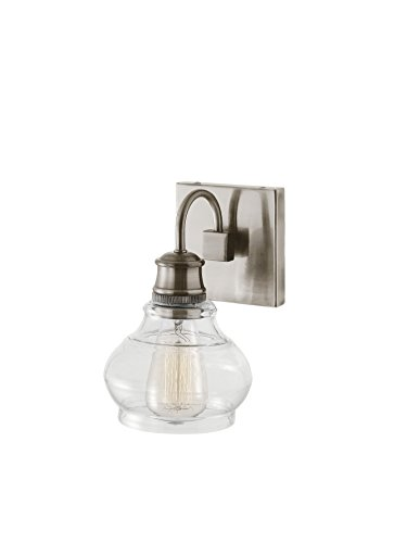 (Kichler  48105CLP Schoolhouse 1-Light Wall Sconce, Classic Pewter)