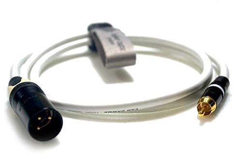 - Professional Handmade Heavy Duty Interconnect Lead Neutrik NC3MXX-B 3-Pin XLR Male to Rean NYS373 RCA/Phono (Unbalanced) Van Damme Cable [2m,white]