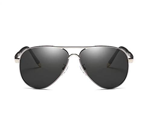 de de de gafas Conducción sol marco sol Moda de gafas polarizadas sol para protección viajar Guay de Huyizhi Hombres Mujeres de Gafas de Silver metal UV400 v7qwp