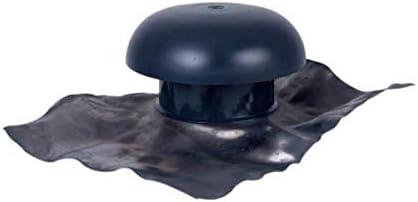 Chapeau de ventilation /à collerette d/étanch/éit/é 40x33 ardoise diam/ètre 100mm CD10M
