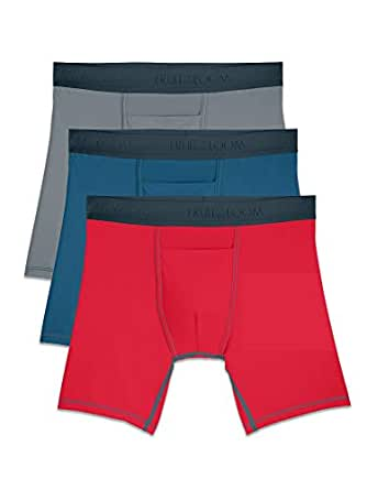 Fruit of the Loom Men's 3-Pack Everlight Boxer Briefs Underwear - Multi - Small