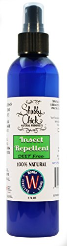 Shabby Chick Natural Insect Repellent | Deet Free Bug Spray for Mosquitoes, Ticks, Fleas, Biting Flies, Ants, Lice, Gnats. Kid, Baby, Pet Safe. Made with Lemon Eucalyptus Essential Oils, - Biting Repellent Insect