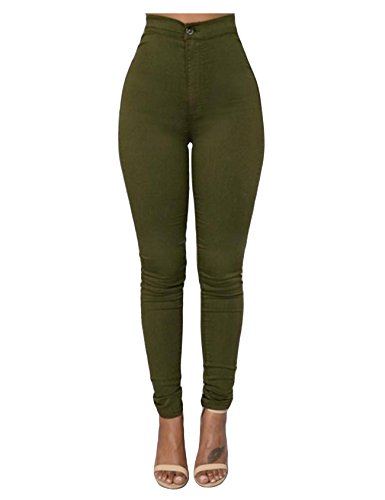 Taille Legging Small Femme Basique Vert Legou Collant Slim haute wz6qFxXt4