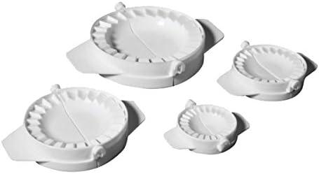 Ibili 707700 - Set 4 Molde Empanadillas,5.5 / 7.5 / 9.5 / 12.5 cm 4 piezas, plástico, blanco