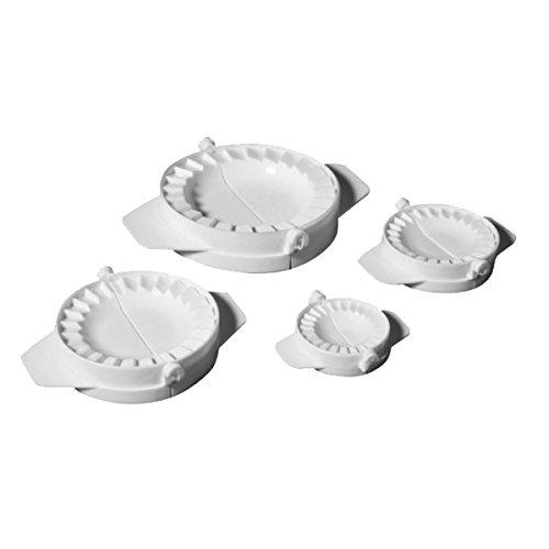 Ibili Teigtaschenformer-Set 5.5/7.5/9.5/12.5 cm 4-teilig, Kunststoff, weiß