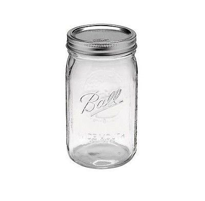 (1) Ball Mason Wide Mouth Canning Jars Half Gallon~64oz~2 Quart W/lids