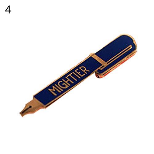 CHoppyWAVE Cute Cartoon Pen Pattern Enamel Children Brooch Pin Clothing Bag Hat Badge Decor - Blue