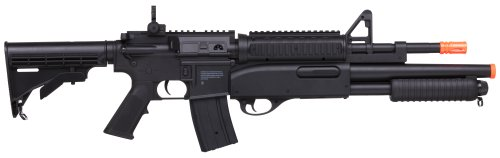GameFace-ASRGCMBO-Crosman-GFRS-Tormentor-Airsoft-AEG-Carbine-with-Integrated-Pump-Action-Shotgun-Black