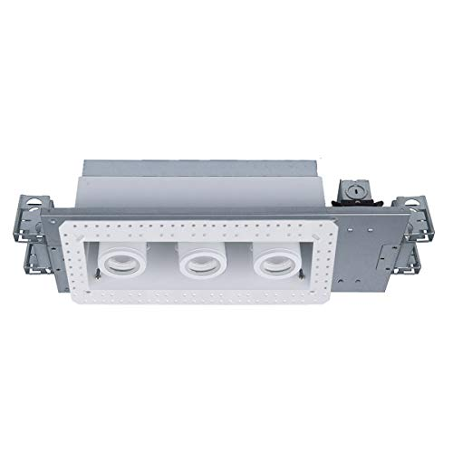 WAC Lighting MT-4310L-927-WTWT Silo LED Multiple Three New Construction IC-Rated Airtight Housing with Light Engine and Invisible Trim Housing & LED White