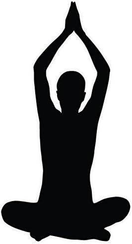 Amazon Com Yoga Silhouette Lotus Meditation Sticker Decal 3 X 6 Everything Else