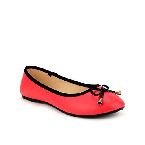Femme RAGA Rouge Cendriyon Chaussures Ballerine B4xwXfnqWS