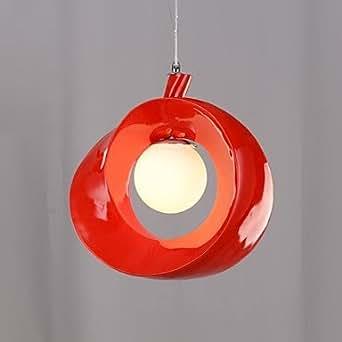Lámpara de techo colgante WCKGGD una DE luz de resina y cristal , De colour rojo
