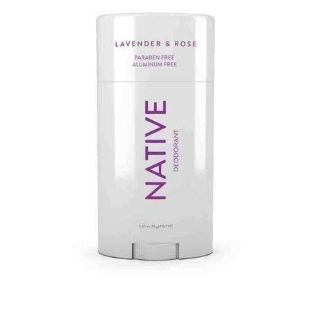 Native Deodorant - Natural Deodorant - Vegan, Gluten Free, Cruelty Free - Free of Aluminum, Parabens & Sulfates - Born in the USA - Lavender & Rose
