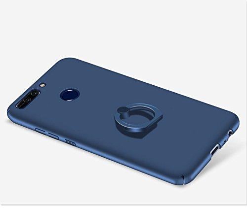 Huawei Honor V9 Funda , color sólido, estilo sencillo,Alta Calidad Ultra Slim Anti-Rasguño y Resistente Huellas Dactilares Totalmente Protectora Caso de Plástico Duro Cover Case+stand holder-RG16 A