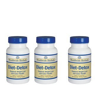 Diet-Detox supplement for weight loss and colon health - 3 bottles by Diet-Detox by Diet-Detox