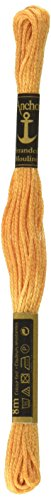 (Anchor Six Strand Embroidery Floss 8.75 Yards-Antique Gold Light 12 per box)