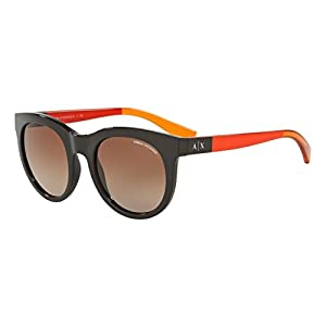 Armani Exchange AX4053S Sunglasses 817513-51 - Phantom Brown Frame, Brown Gradient