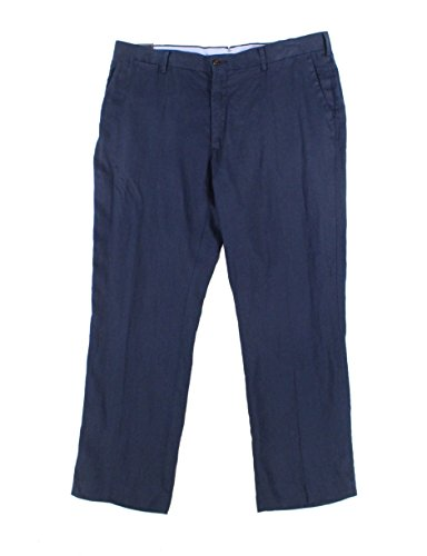 Polo Ralph Lauren Navy Mens 40x32 Classic Linen Dress Pants Blue (Ralph Lauren Classic Linen Pant)