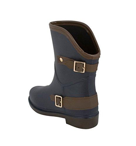 Modern Rush Libby Rain High Boots Womens Navy Ankle rrOPnWzq