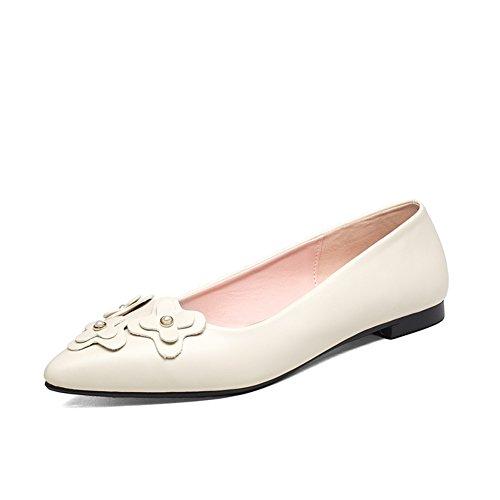 La versión coreana de los zapatos de punta planas superficiales/dulce flores zapatos bajos/Zapatos de tacón plano B